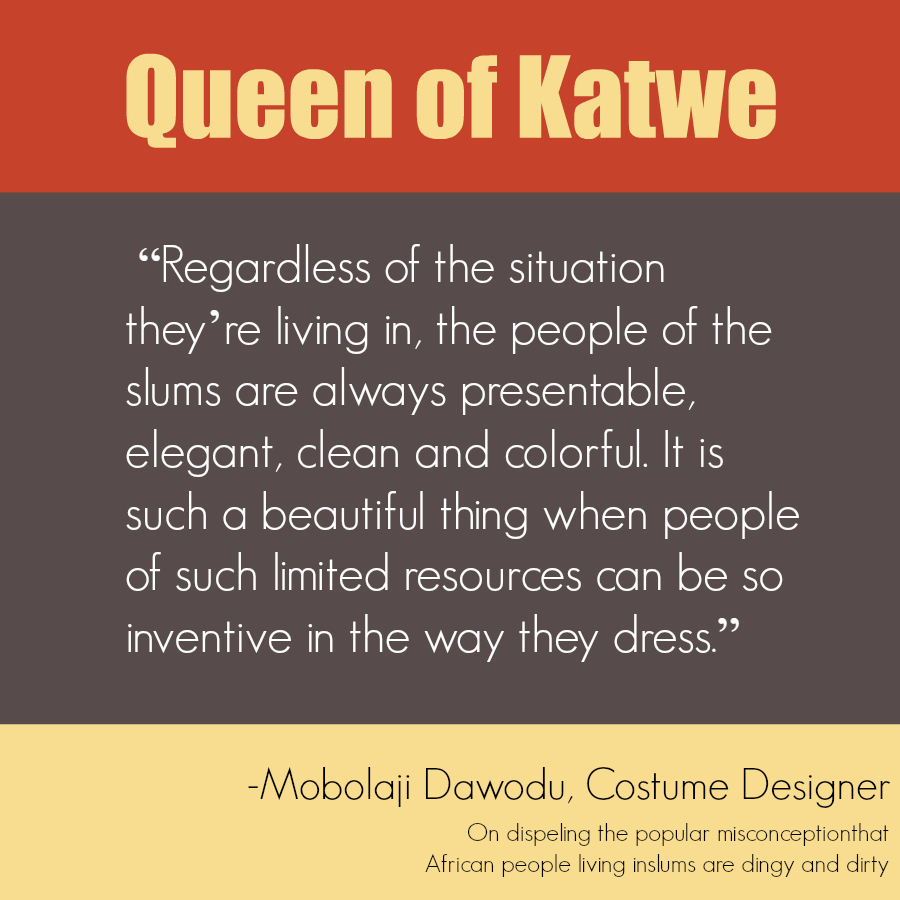 Queen of Katwe Costume Designer