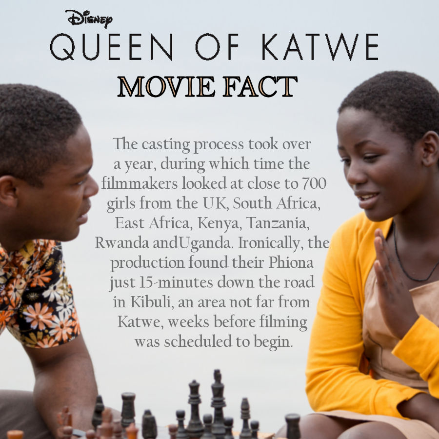 Queen of Katwe Movie Facts - Casting #QueenofKatwe #TheBFGEvent ad