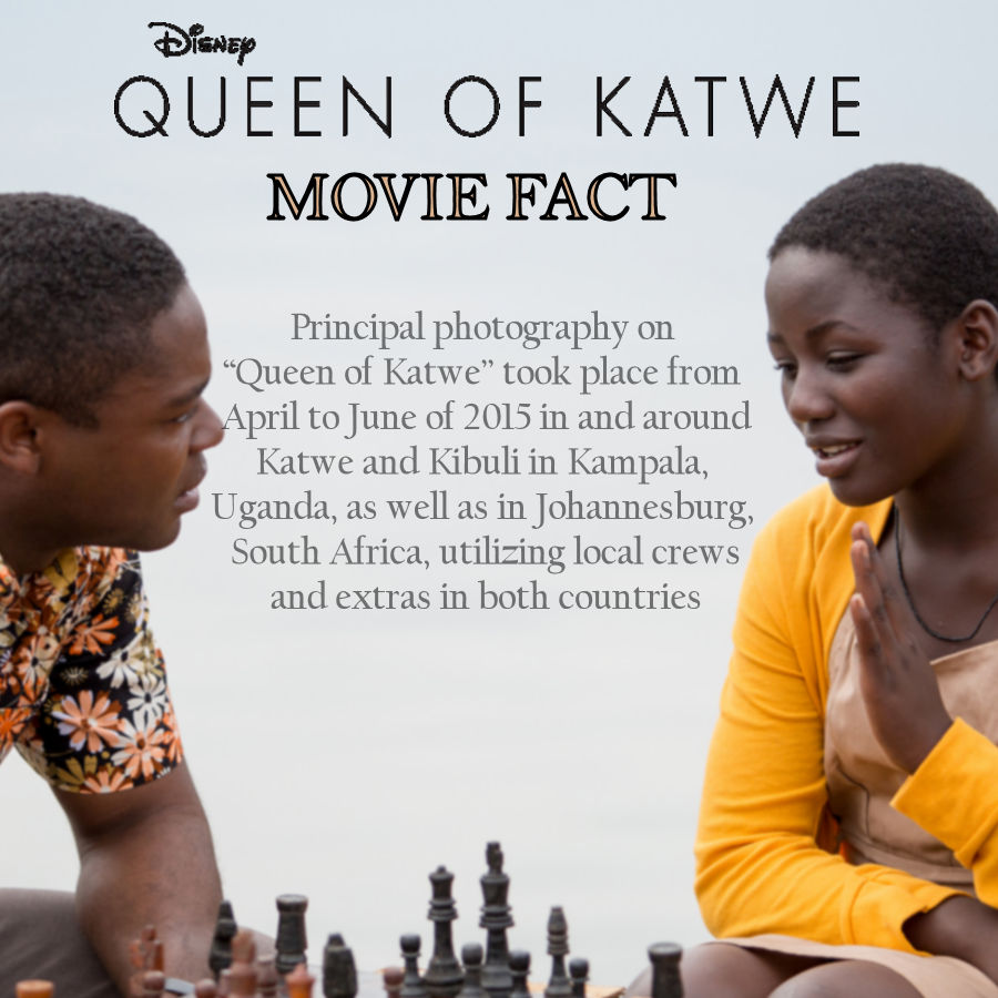 Queen of Katwe Movie Facts - Principal Photography #QueenofKatwe #TheBFGEvent ad