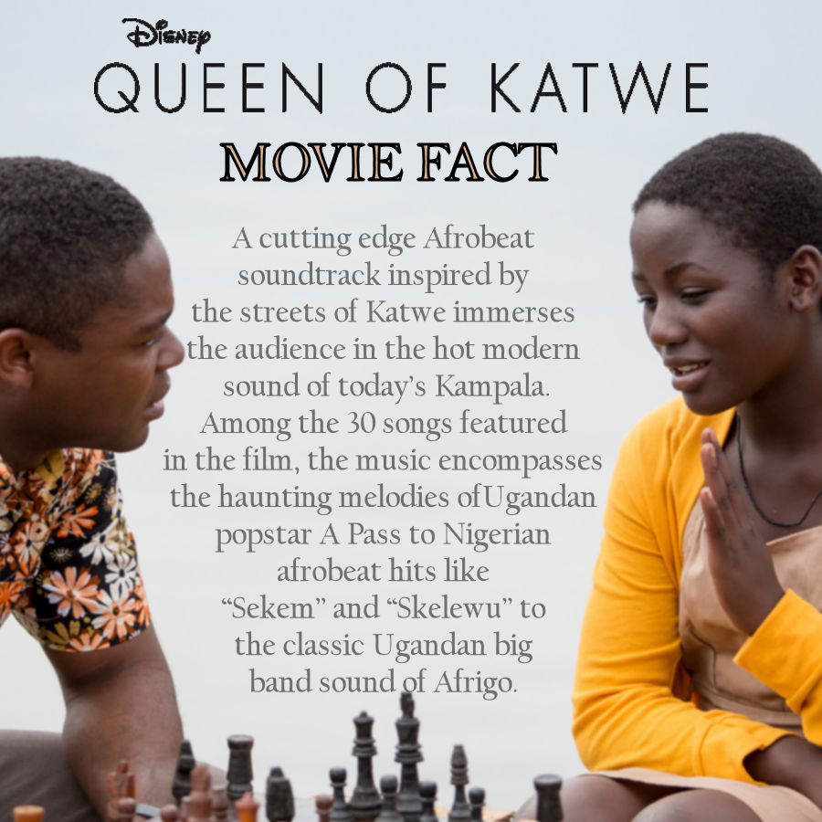 Queen of Katwe Movie Facts - Soundtrack #QueenofKatwe #TheBFGEvent ad