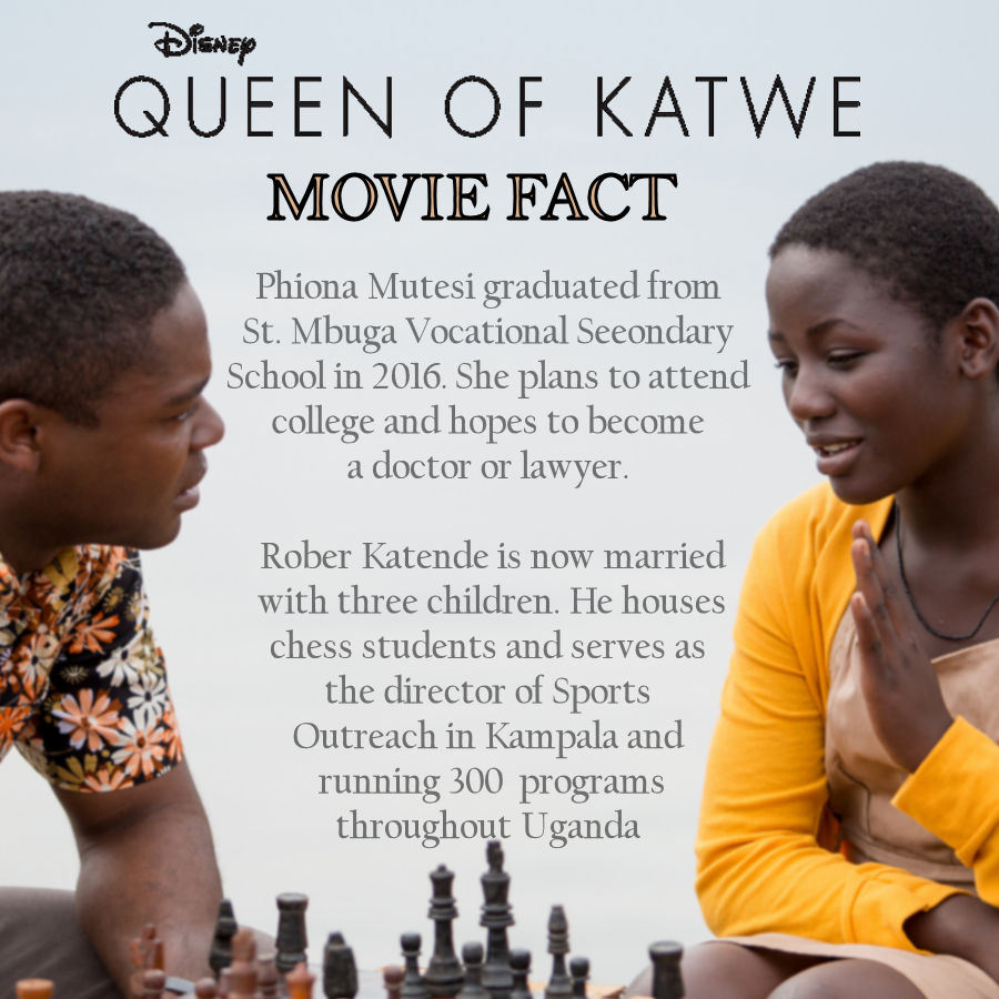 Queen of Katwe Movie Facts - Where Are They Now #QueenofKatwe #TheBFGEvent ad