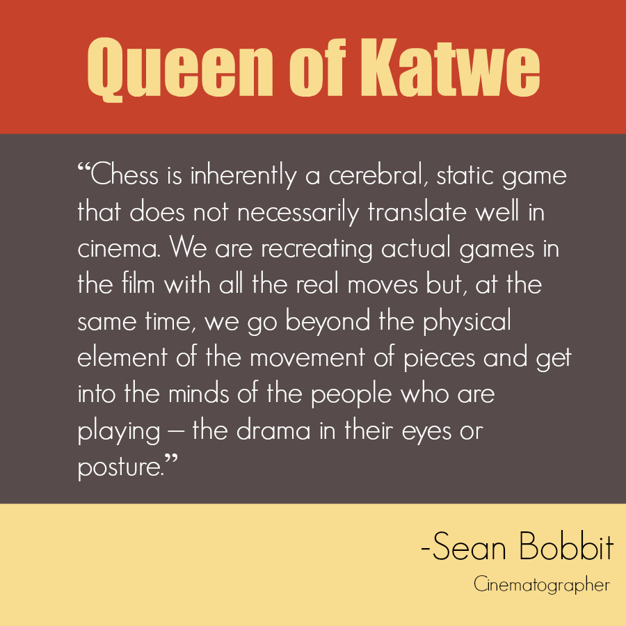 Queen of Katwe Quote - Recreating Chess Games