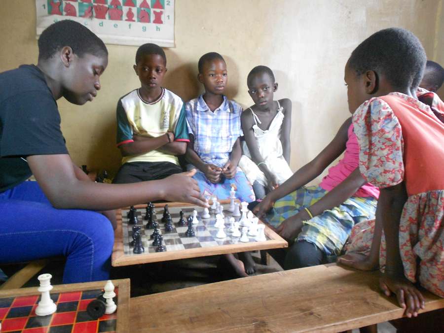 "Phiona Mutesi (left) the young girl the film ""Queen of Katwe"" is based on."