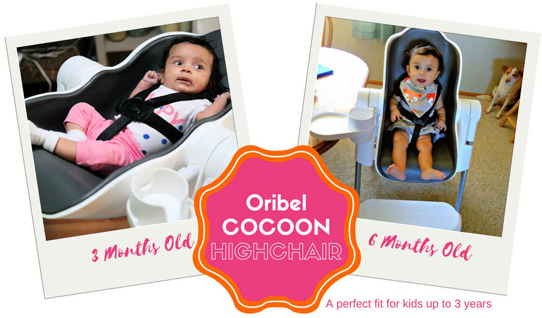 Oribel Cocoon Highchair – A Perfect Fit from Infant to 3-year Old