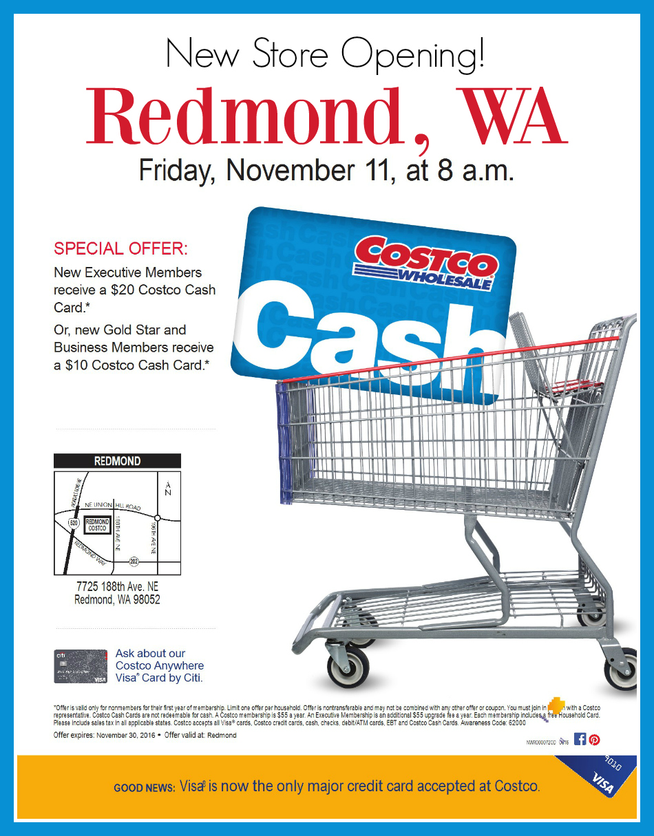 Redmond, WA Costco Grand Opening Invitation and Special Offer #ad