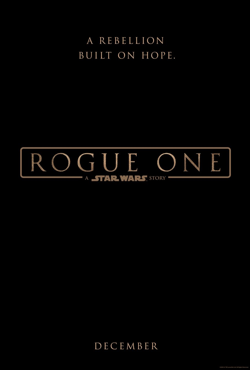 STAR WARS ROUGE ONE Poster - Logo
