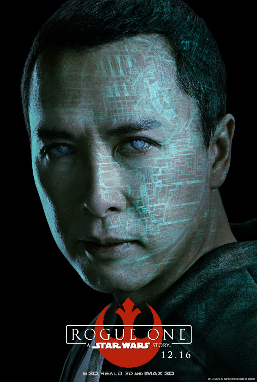 STAR WARS ROUGE ONE Character Poster - Chirrut Îmwe (Donnie Yen)