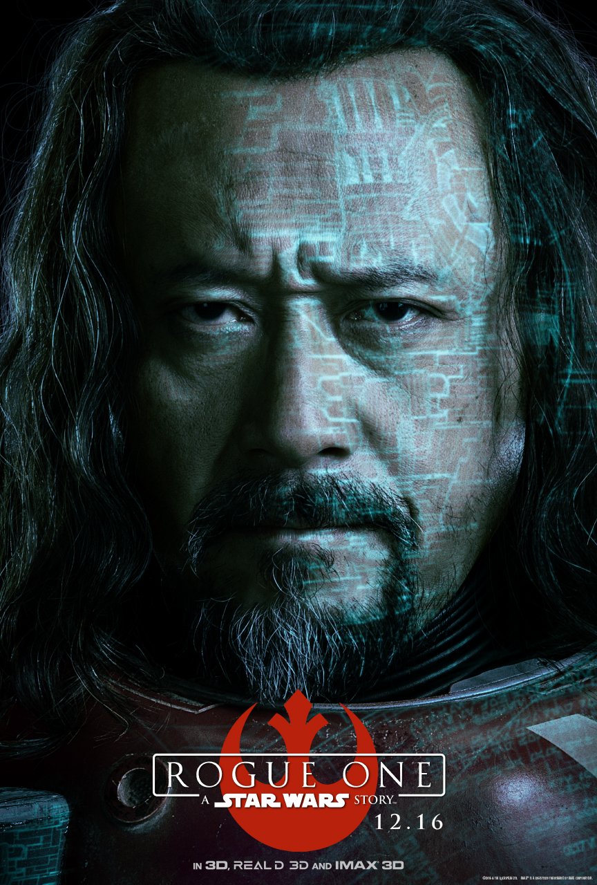 STAR WARS ROUGE ONE Character Poster - Baze Malbus (Jiang Wen)