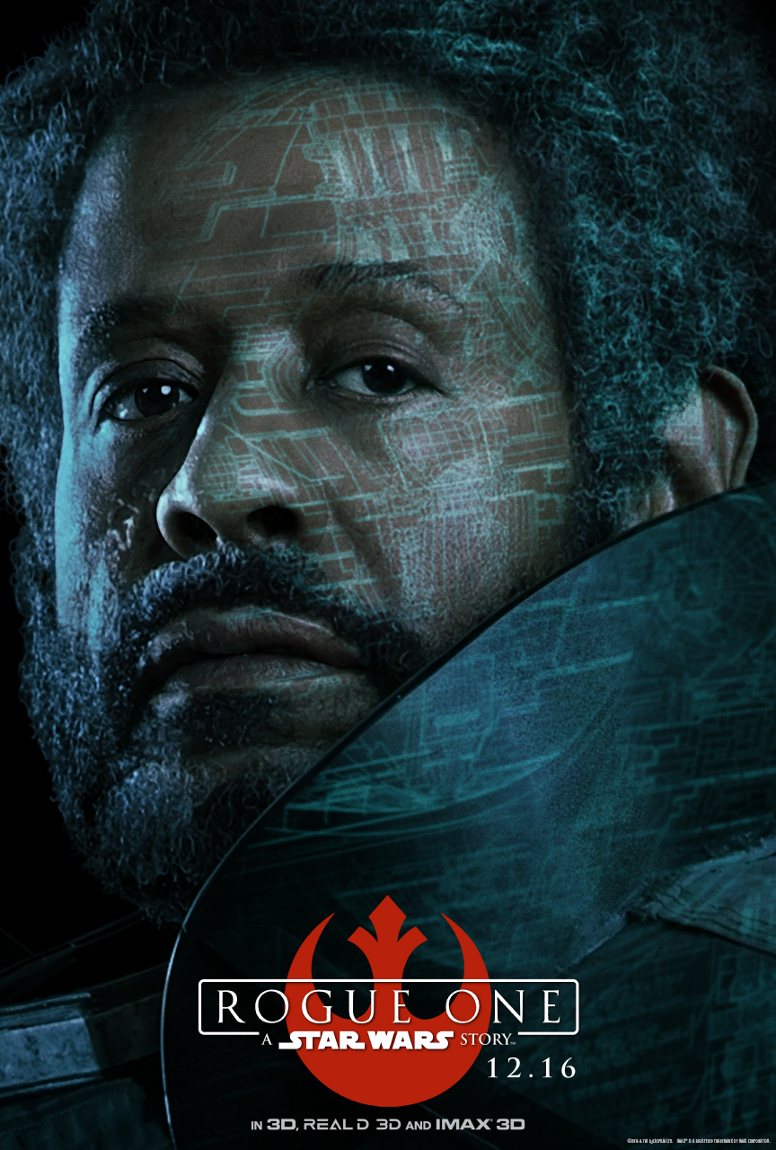 STAR WARS ROUGE ONE Character Poster - Saw Gerrera (Forest Whitaker)