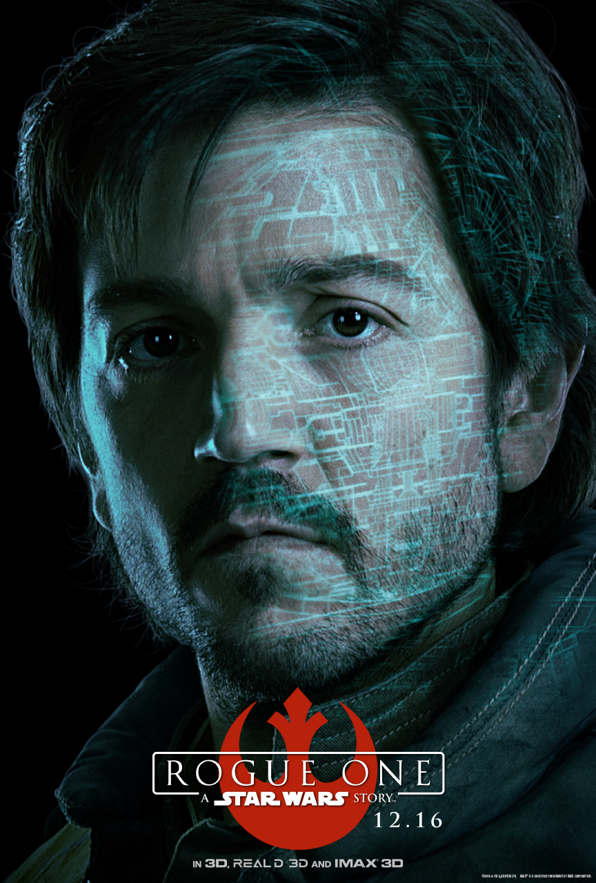 STAR WARS ROUGE ONE Character Poster - Captain Cassian Andor (Diego Luna)