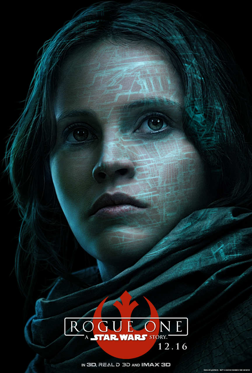 STAR WARS ROUGE ONE Character Poster - Jyn Erso (Felicity Jones)