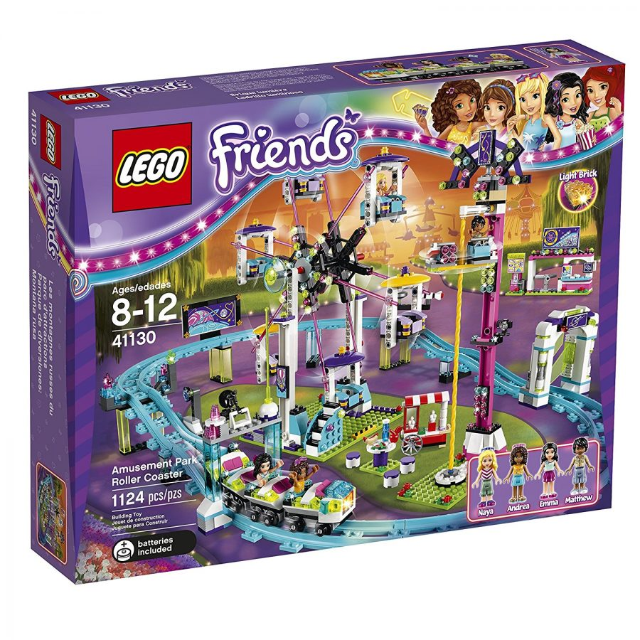 LEGO Friends Amusement Park Roller Coaster Building Kit (1124 Piece - #41130)