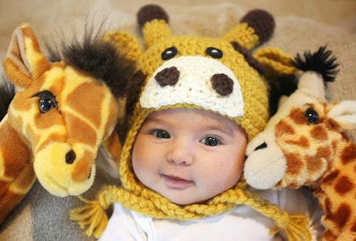 Free Crochet Pattern - Kids animal beanie cap -- Dalmatian Dog Hat