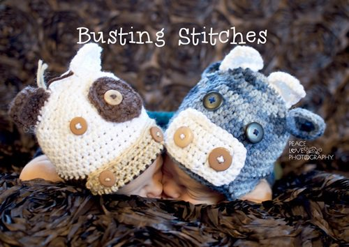 Free Crochet Pattern - Kids animal beanie cap - - Cow Hat