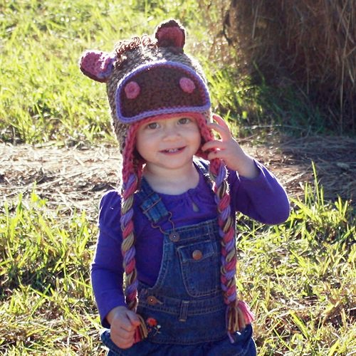 Free Crochet Pattern - Kids animal beanie cap - - Owl Hat