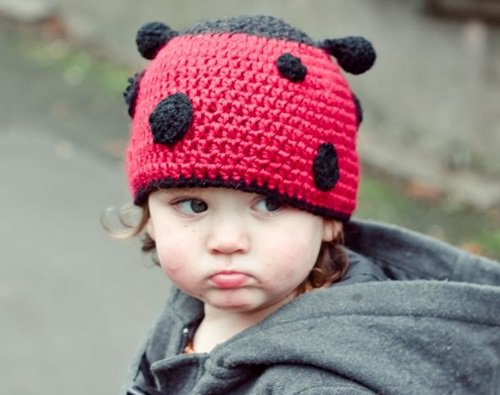 Free Crochet Pattern - Kids animal beanie cap - - Ladybug Hat