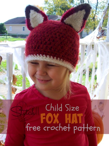 Child Size Fox Beanie Cap - Free Crochet Pattern