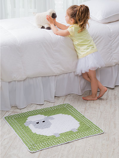 Corner-to-Corner Lap Throws For the Family - Sheep (lamb) floor rug