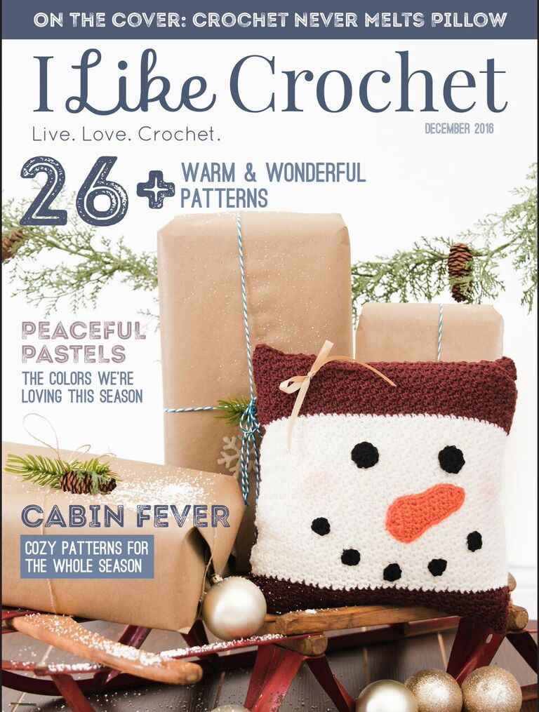 Crochet Magazine December 2016 Winter Holiday, Christmas Issue - exclusive patterns & tutorials
