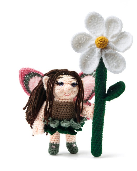 Enchanted Forest Creatures Crochet Pattern - Fairy with Flower