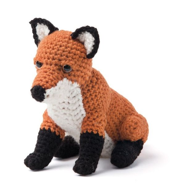 Enchanted Forest Creatures Crochet Pattern - Fox