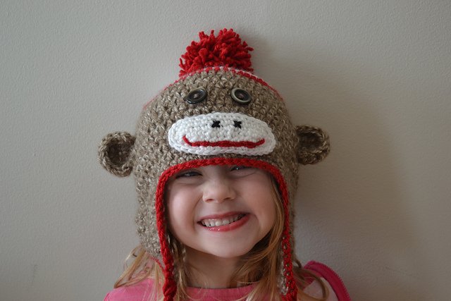 Just Another Sock Monkey Hat Pattern for Kids - Free Crochet Pattern by Crochet in Color