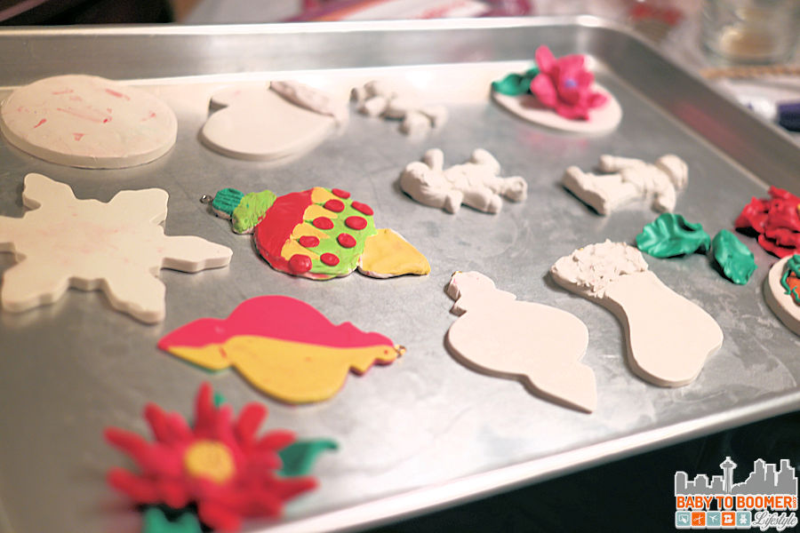Baked Clay Christmas Ornaments - Family Craft Night