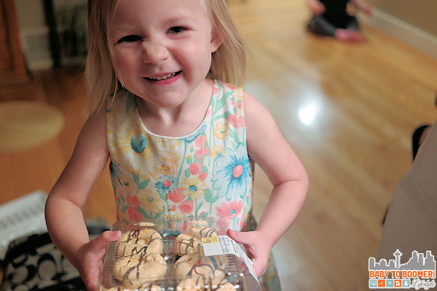 Paisley delivering the cupcakes