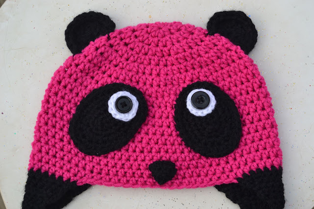 Pink Panda Beanie for Kids - Free Crochet Pattern from Crochet in Color