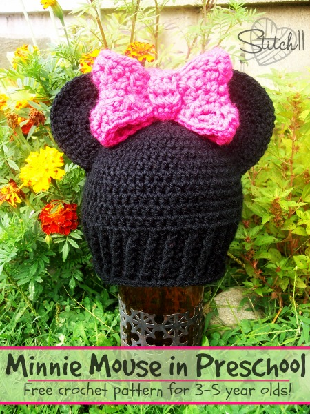 Preschool Minnie Mouse Hat - Free Crochet Pattern by Stitch 11