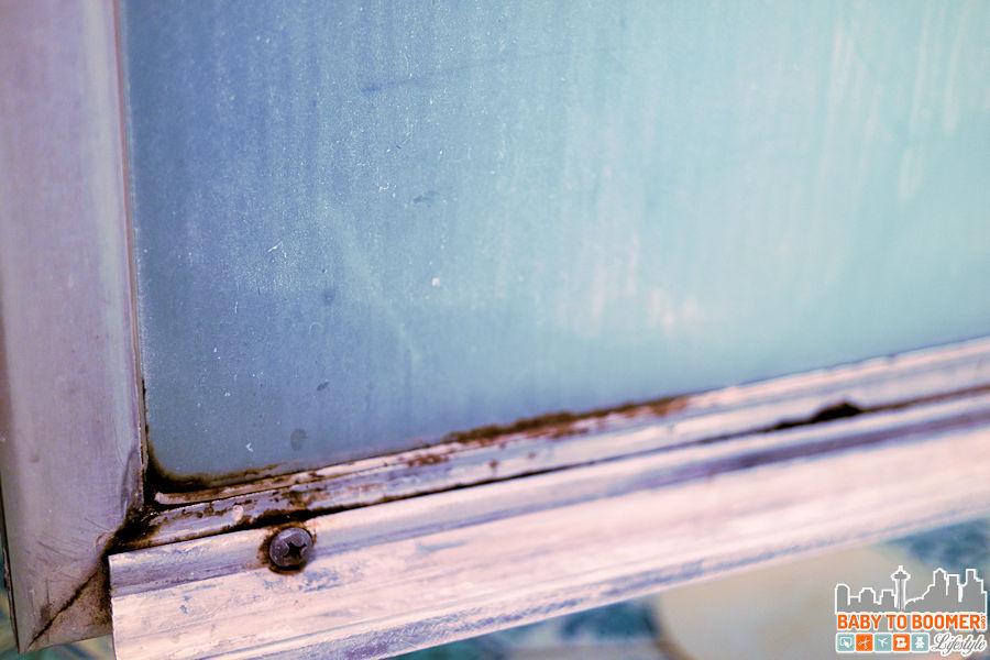 Mold In My Shower spray nine challenge: moldy, soap scum, mildew covered shower door
