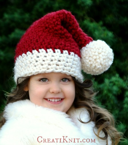 Free Crochet Patterns - Christmas-Themed Hats for Adults and Kids