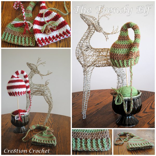 Trendy Elf Cap for kids to adults - free hat crochet pattern from Crea8tion Crochet