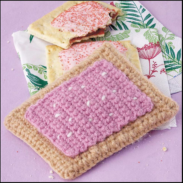 Yummi Gurumi Over 60 Gourmet Crochet Treats to Make - Pattern Pop-Tart Toaster Pastry