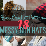 23 Free Messy Bun Hat Crochet Patterns – Make Your Own Ponytail Beanie