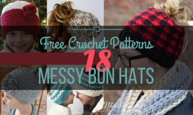 23 Free Messy Bun Hat Crochet Patterns – Make Your Own Ponytail Beanie