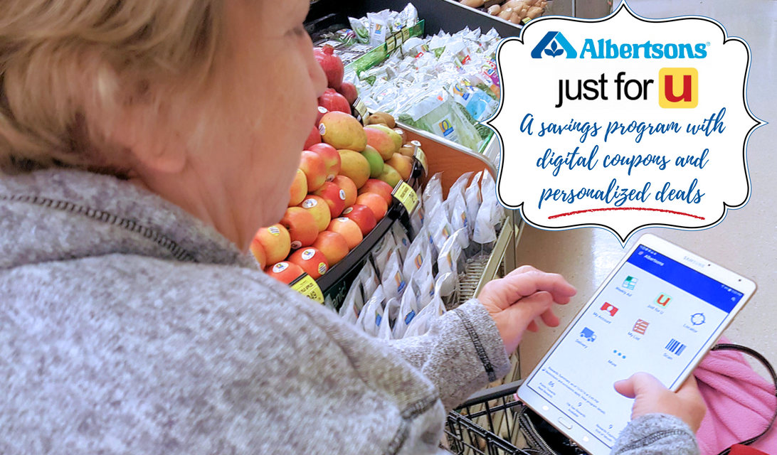 just for U® Savings Tool and Gas Rewards Program on the Albertson App #Albertsons