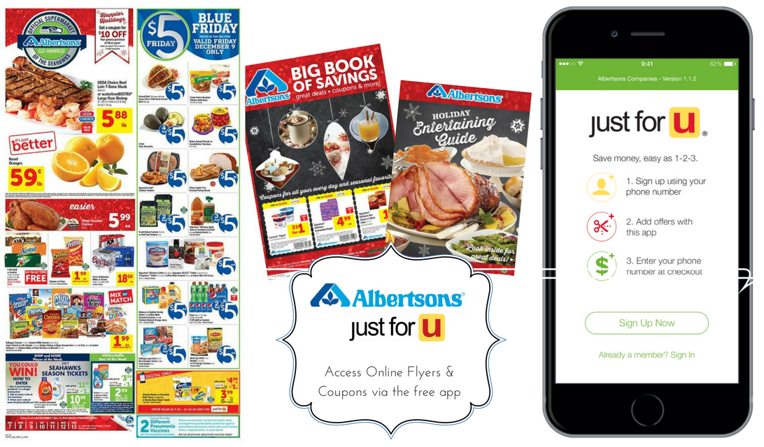 Albertsons just for u savings program online ads #ad
