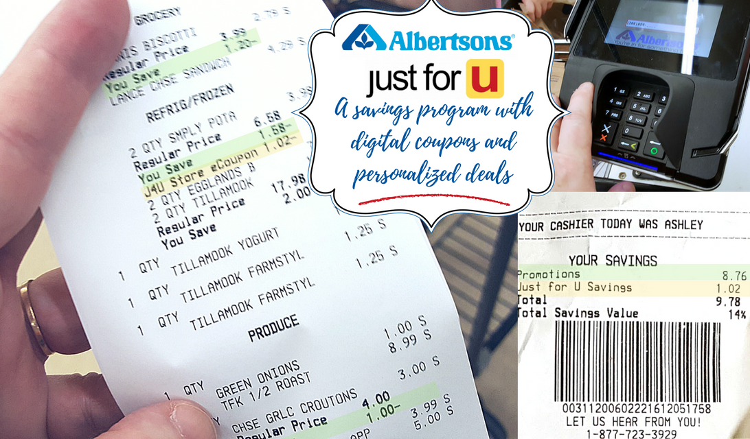 It's Easy to save with just for U®: Albertsons Savings Program with Personalized Deals #ad
