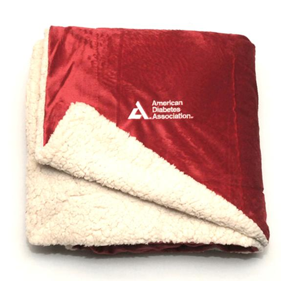 Faux Mink Sherpa Throw - Shop the American Diabetes Association Gift of Hope Catalog #ad