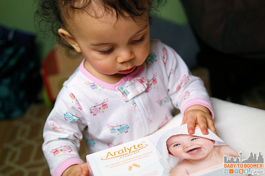 Aralyte - Because this little girl doesn't need a peanut allergy messing up her future! - Early Peanut Exposure Found to Prevent Allergies in New Study #peanutallergy #earlyintroduction #ad