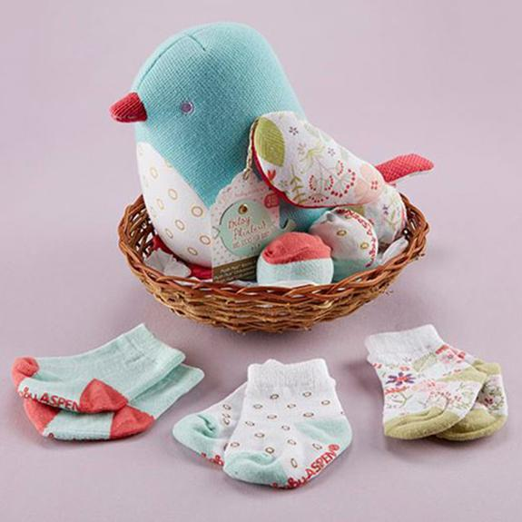 Cozy baby bird and matching socks - Shop the American Diabetes Association Gift of Hope Catalog #ad