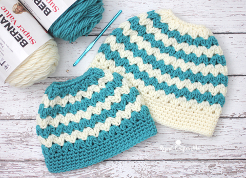 Crochet-After-Me-Mom-Child-Messy-Bun-Hats-Free-Crochet-Patterns.jpg
