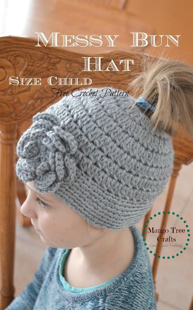 23 Free Messy Bun Hat Crochet Patterns Make A Ponytail Beanie