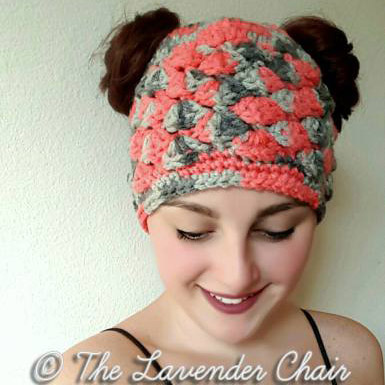 23 Free Messy Bun Hat Crochet Patterns - Make a Ponytail Beanie