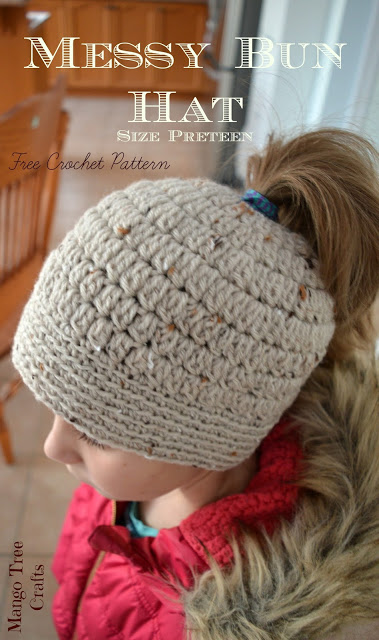 23 Free Messy Bun Hat Crochet Patterns Make A Ponytail Beanie