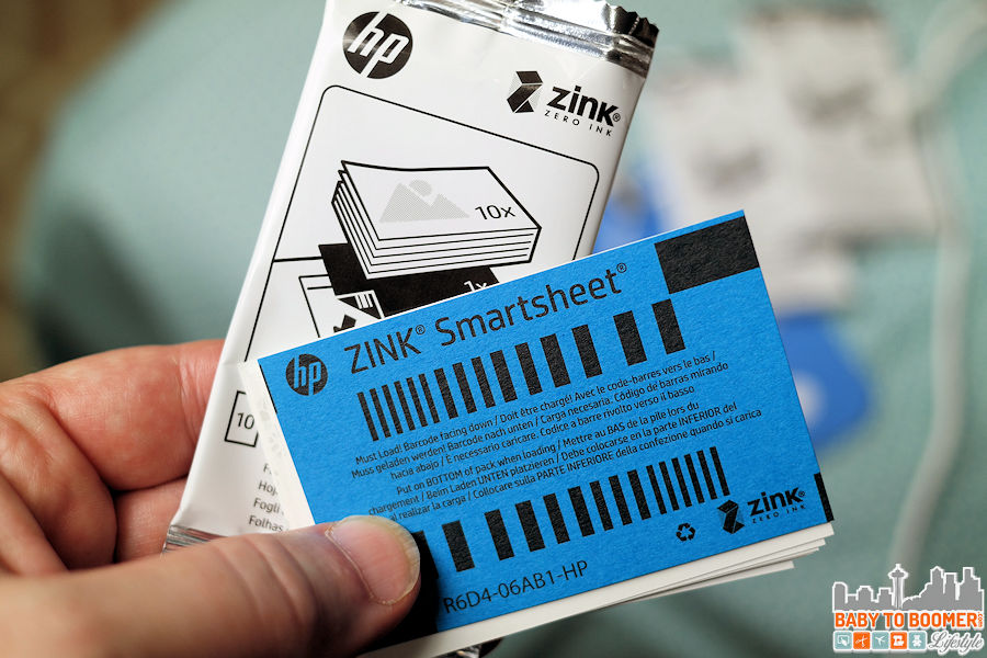 This special paper has the color embedded into it - no ink neded HP Sprocket Portable Printer: Snap It! Print It! Share It! For Instant Fun! #HPSprocket #ad