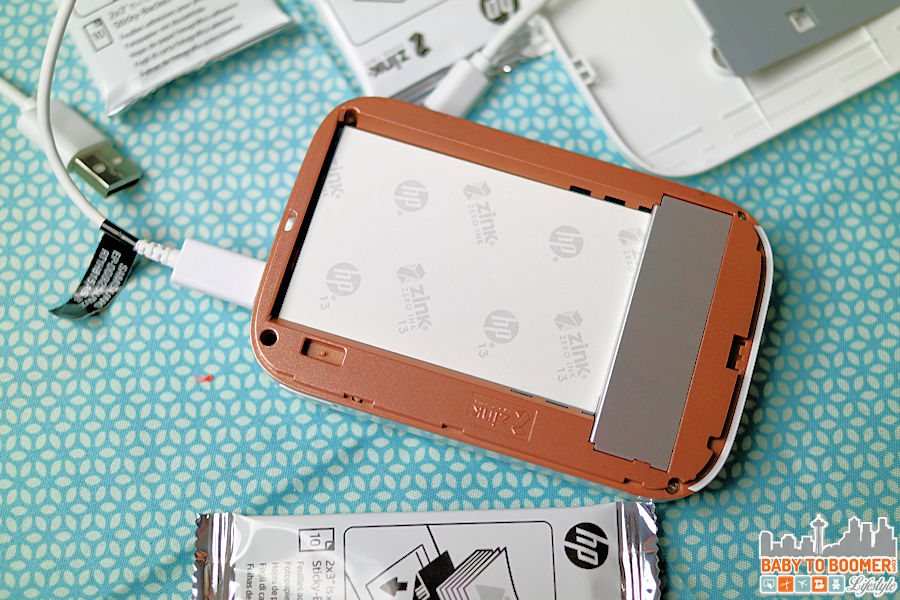 Loading the paper HP Sprocket Portable Printer: Snap It! Print It! Share It! For Instant Fun! #HPSprocket #ad