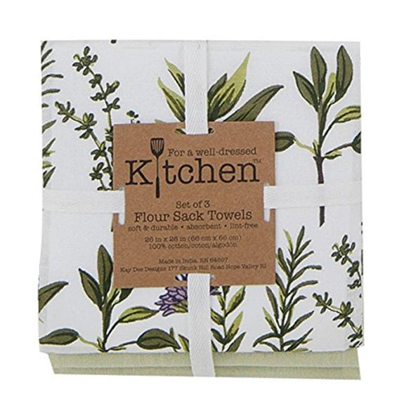 Herb Garden Flour Sack Towels (set of 3) - Shop the American Diabetes Association Gift of Hope Catalog #ad