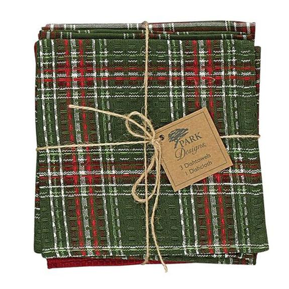 Holly Plaid Dish Towel Set - Shop the American Diabetes Association Gift of Hope Catalog #ad